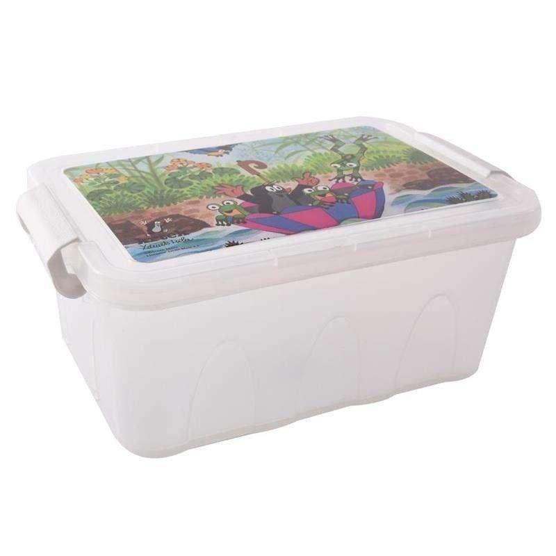 ORION Aufbewahrungsbox für Kinder Spielzeugkiste Kleiderbox DER KLEINE MAULWURF 3l