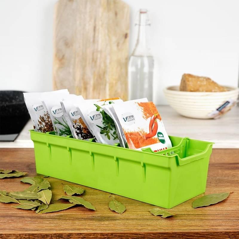 Organizer für GEWÜRZE Tüten Gewürzbehälter Küchenorganizer grün