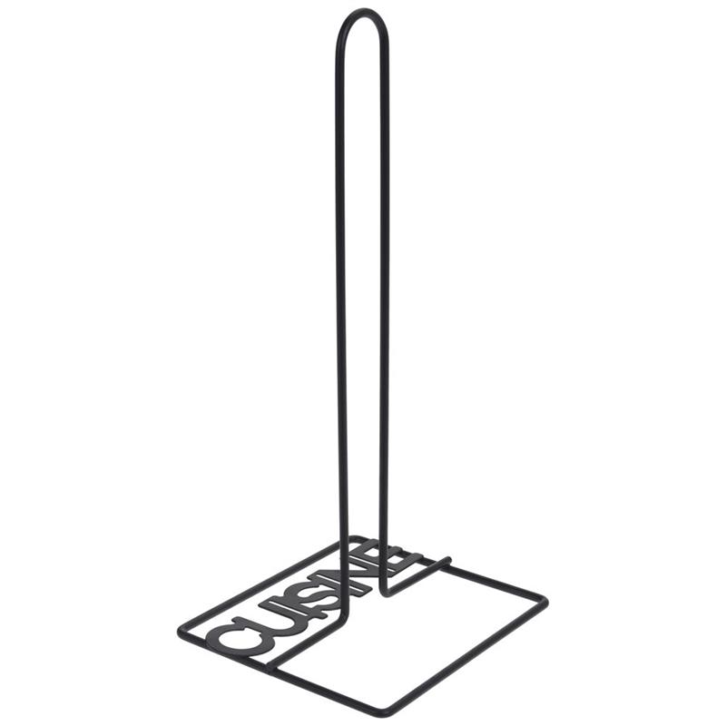 Metalowy stojak na ręczniki papierowe czarny uchwyt na ręcznik papierowy