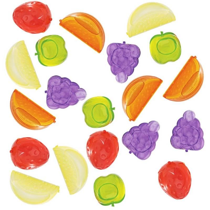 Kostki lodowe wielorazowe owoce forma na lód do kostek lodu zestaw komplet 20 sztuk